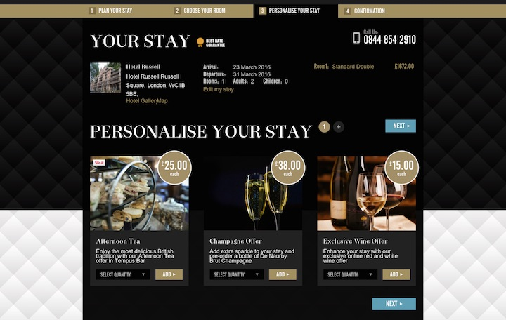 Hotel web design - Marriott
