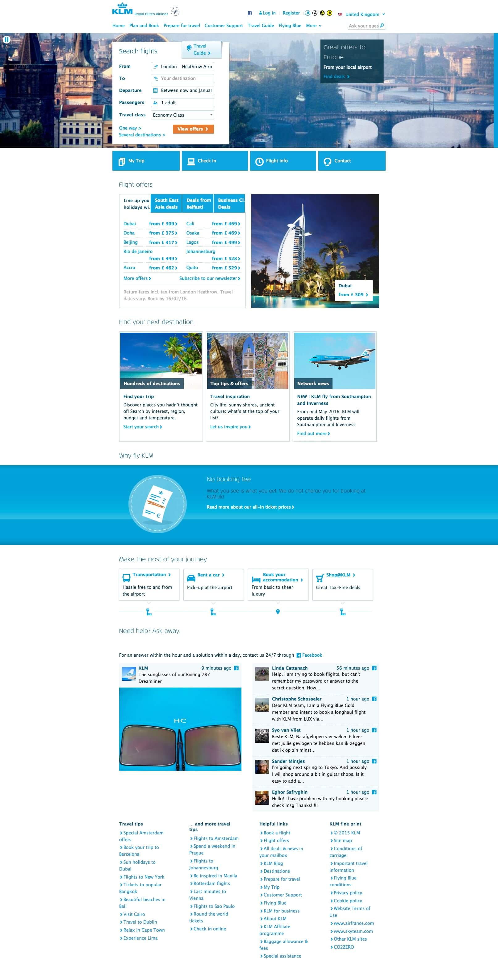 What makes a good airline website - KLM