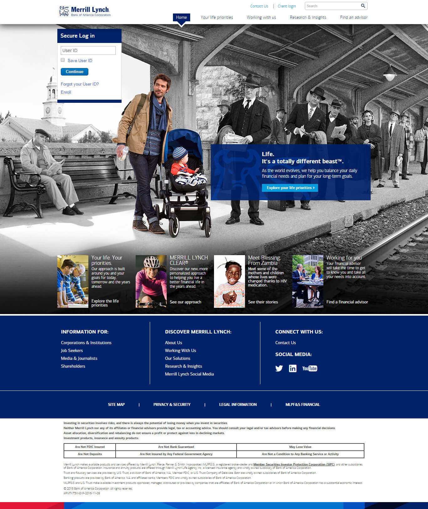 Finance Web Design - Merrill Lynch