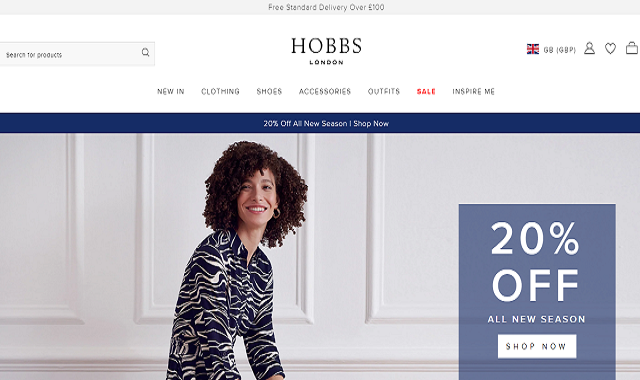 Hobbs London currently provides customers with free delivery